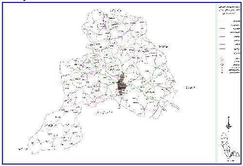 دانلود نقشه اتوکدی شهرستان بوکان (آذربایجان غربی)